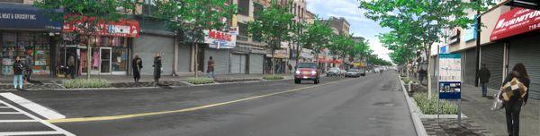 Bed-Stuy Gateway Streetscape - Fulton Street at Arlington Place