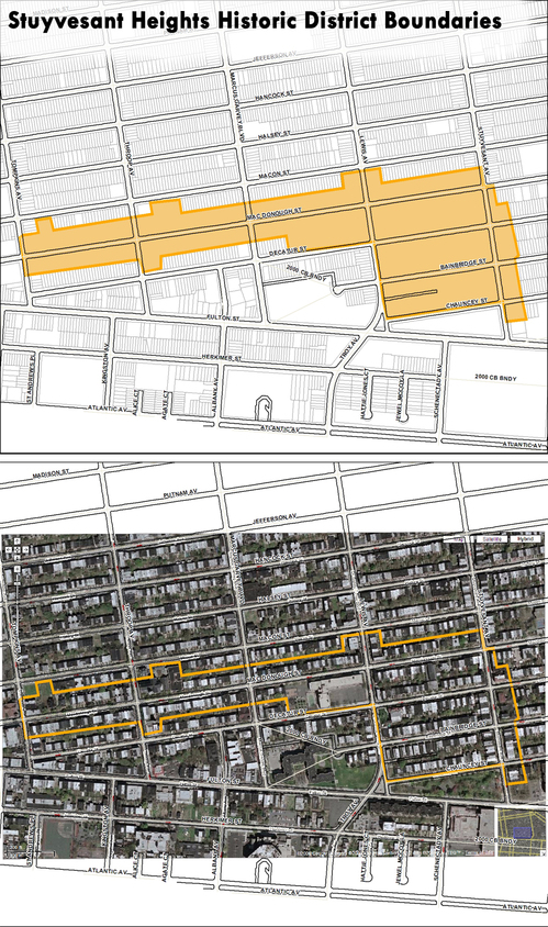 Boundaries and Location of the Stuyvesant Heights Historic District